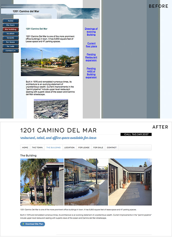 Real Estate Web Design | Before and After