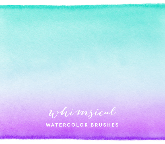 Whimsical Watercolor Brushes
