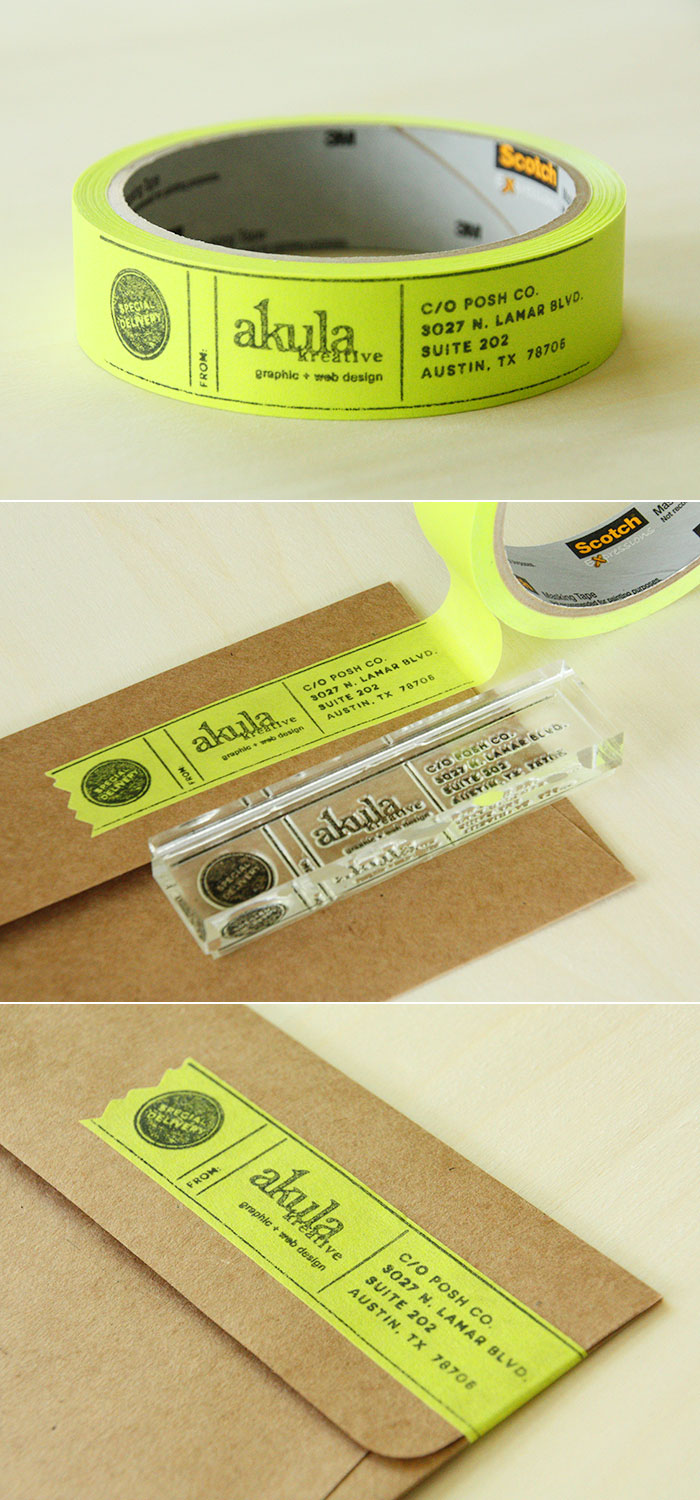 DIY custom masking tape address label