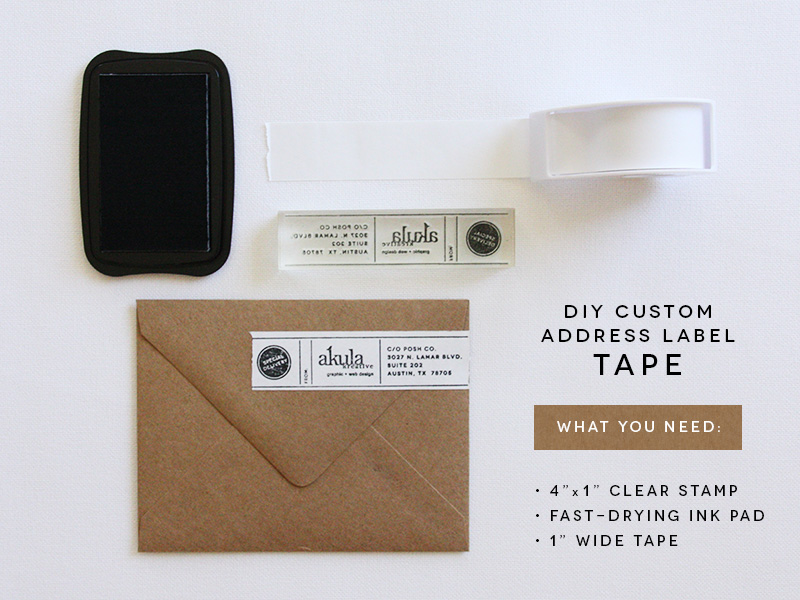 DIY Address Label Tape by Akula Kreative
