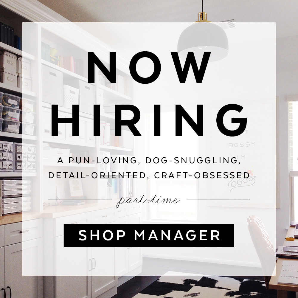 Now hiring :: a shop manager