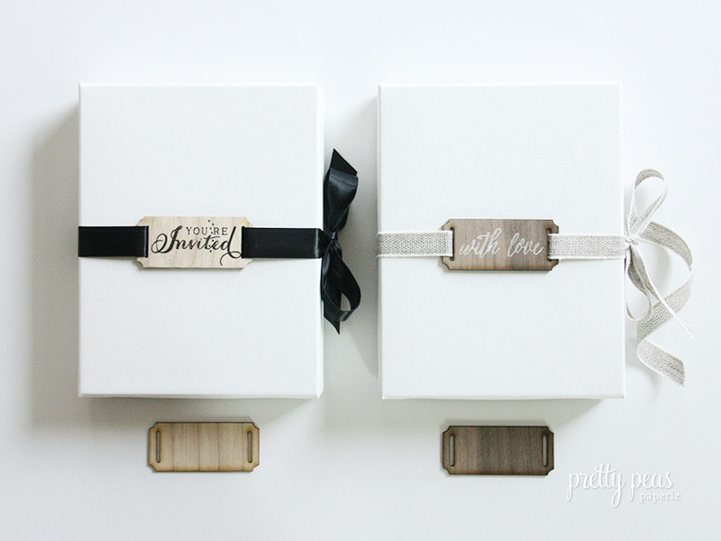DIY Hand-Stamped Wood Ribbon Labels