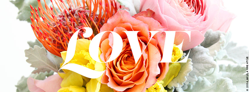 Free LOVE-inspired Facebook Cover Photo // Akula Kreative