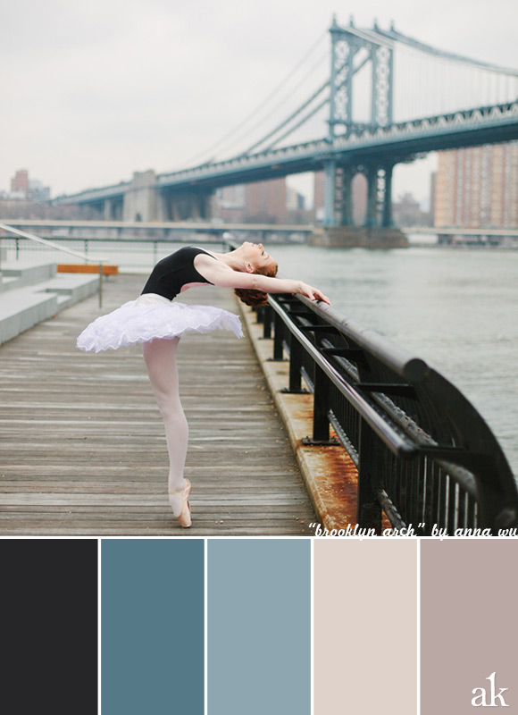 a ballerina-inspired color palette // black, gray-blue, stone, taupe // photo by anna wu