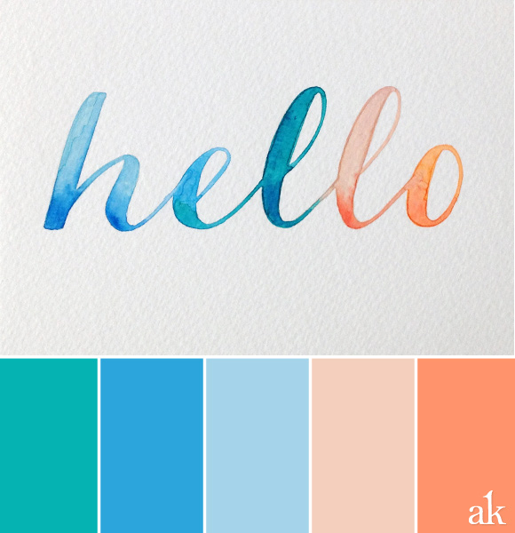 Gender Neutral Color Palette Cool Another Watercolorinspired Color Palette — Akula Kreative Inspiration Design