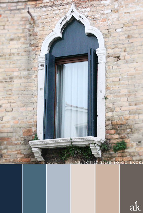 a Venice-inspired color palette // blue, stone, warm gray
