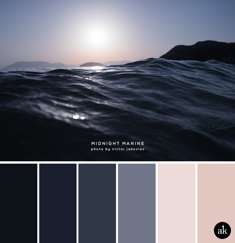 A Sea Inspired Color Palette Midnight Blue Navy Nude Blush
