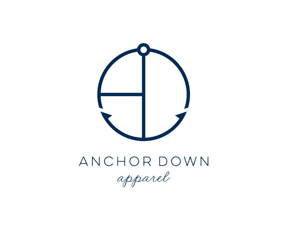 AD Monogram Nautical Logo for Anchor Down Apparel | akulakreative.com