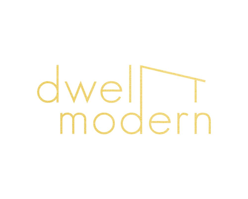 Mid Century Modern Logo for Dwell Modern  | akulakreative.com