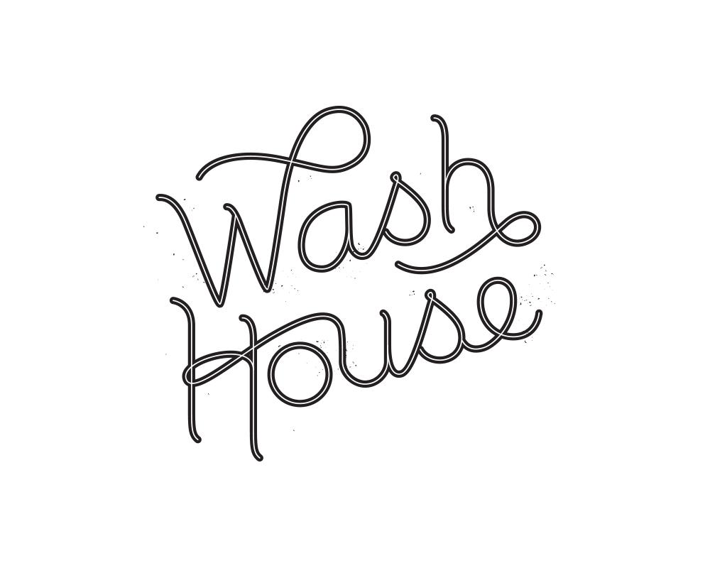 Playful, Hand-Lettered Logo for Wash House | akulakreative.com