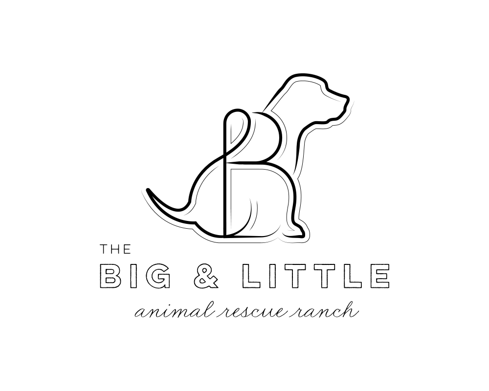 Custom BL Monogram Dog Logo for The Big and Little Animal Rescue Ranch | akulakreative.com
