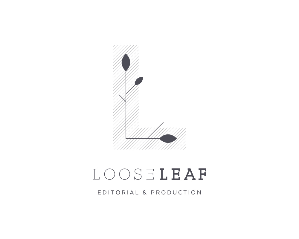 Modern LL Monogram Logo for Looseleaf Editorial and Production | akulakreative.com