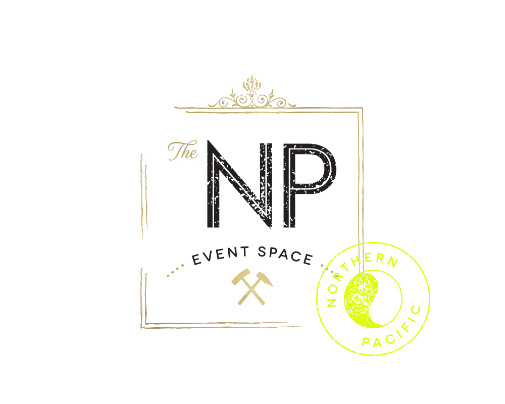 Modern, Textured Logo with Stamp Logo for The NP Event Space | akulakreative.com