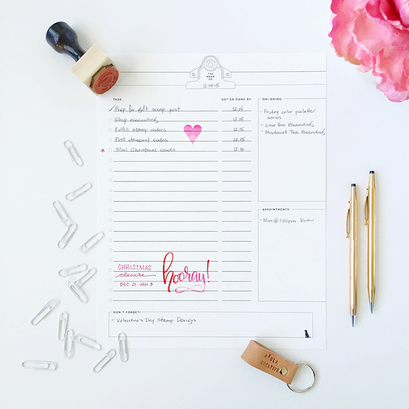 small business weekly to do list printable pdf