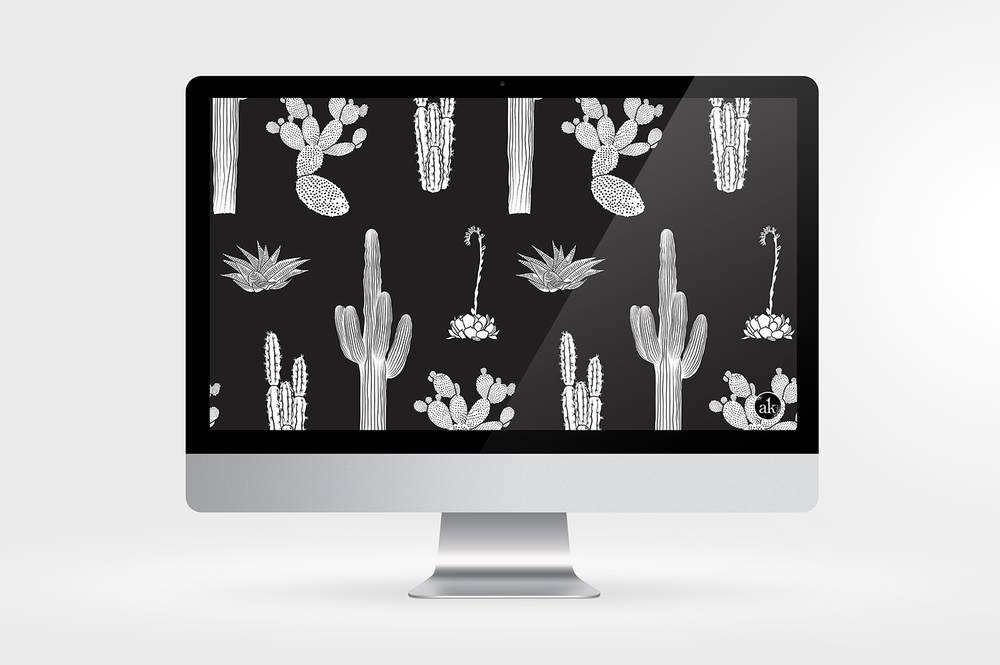 Free Download | Cactus Wallpaper by Akula Kreative