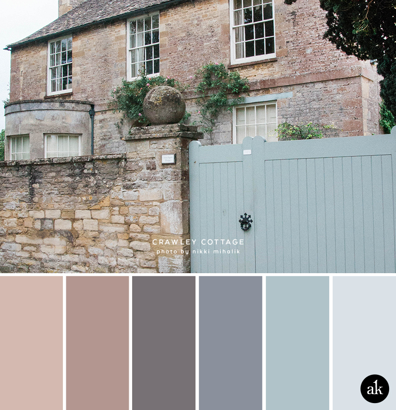 a Downton-Abbey-inspired color palette // pink stone, pale blue