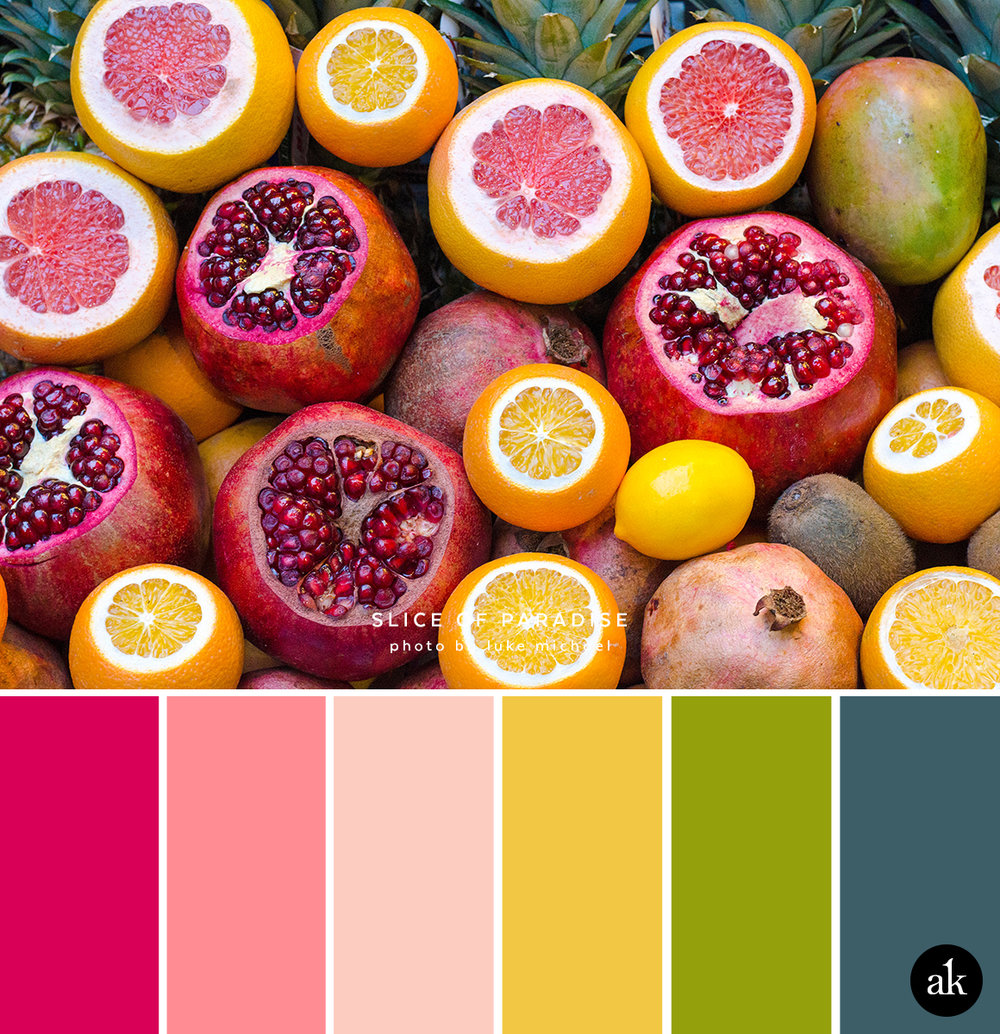 a fruit-inspired color palette — Akula Kreative