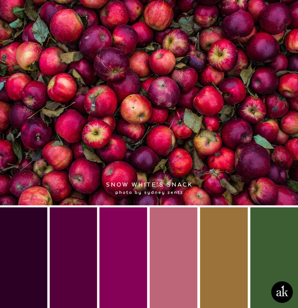 Design Aubergine Color an apple inspired color palette akula kreative dark aubergine plum berry dried