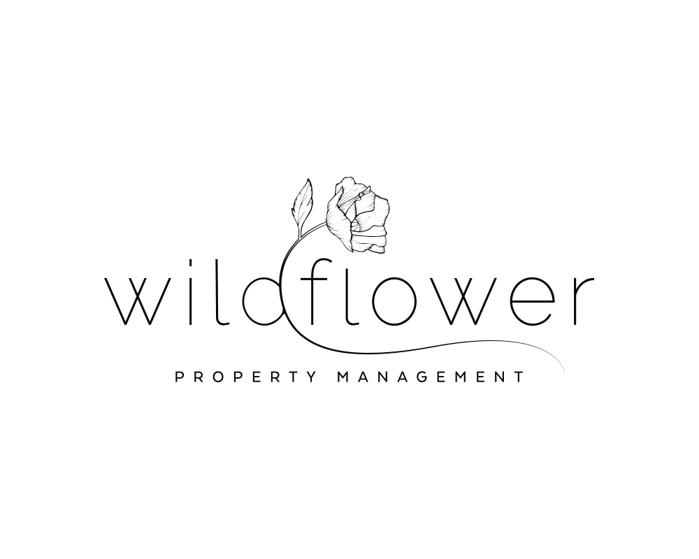 Hand Drawn Floral Logo for Wildflower Property Management | akulakreative.com