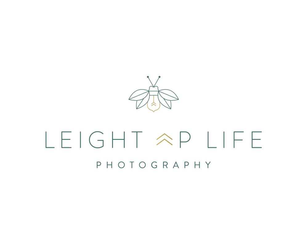 Modern Lightning Bug Icon Logo for Leight Up Life Photography | akulakreative.com