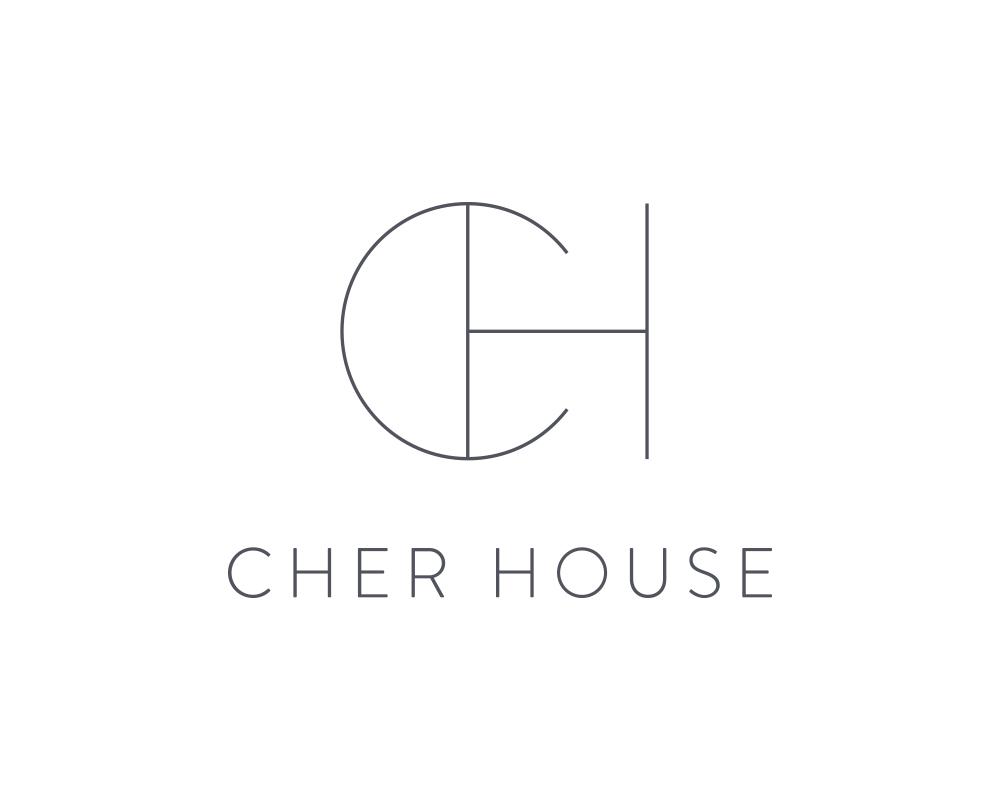 Custom Monogram CH Logo Design for Interior Designer, Cher House | akulakreative.com
