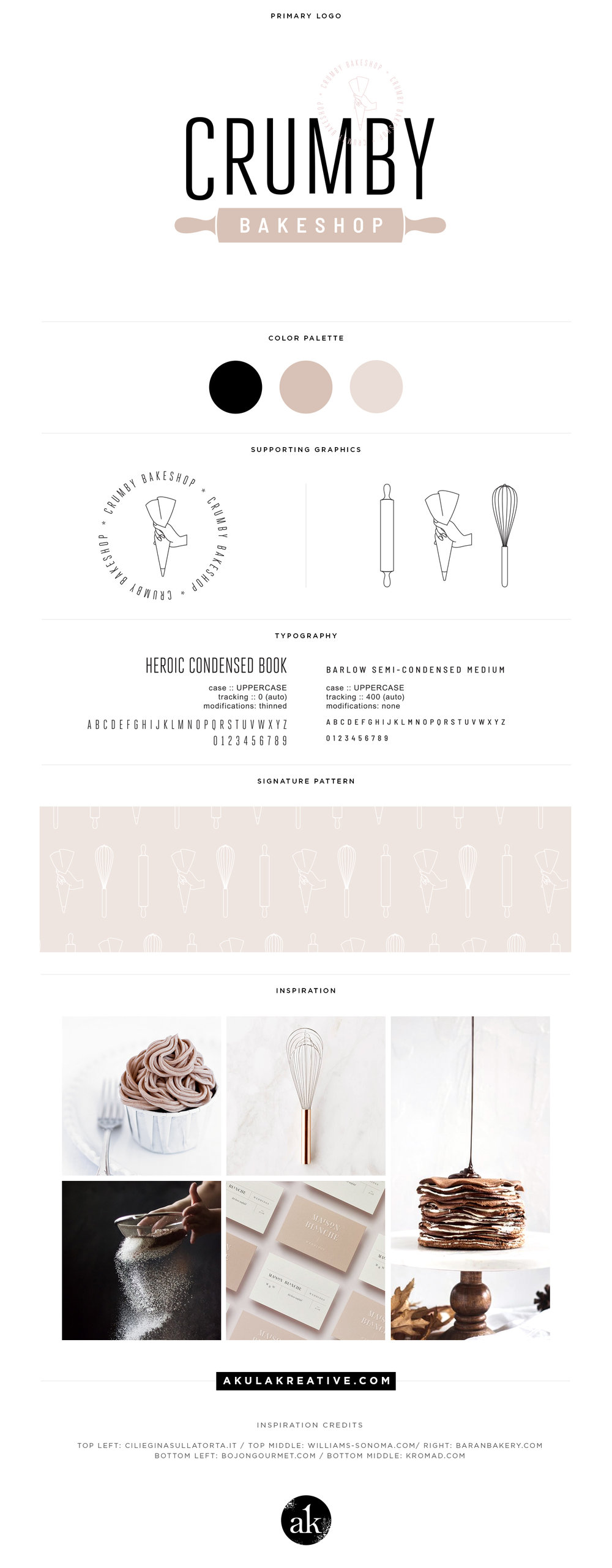 Modern, Neutral Bakery Branding for Crumby Bakeshop in Houston, TX | akulakreative.com
