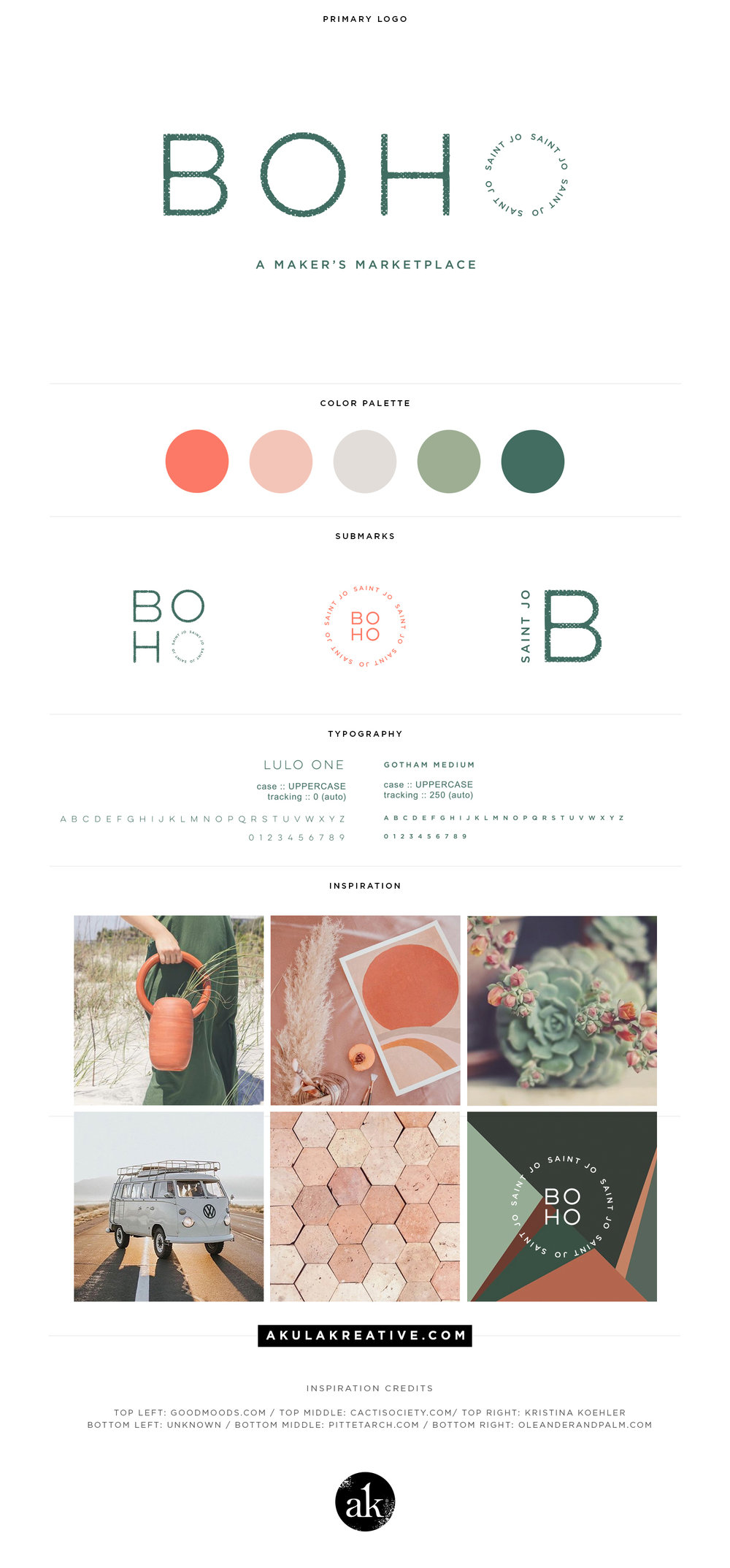 Boho-Inspired Branding in Warm Earth Tones for Boho Saint Jo by Akula Kreative | akulakreative.com