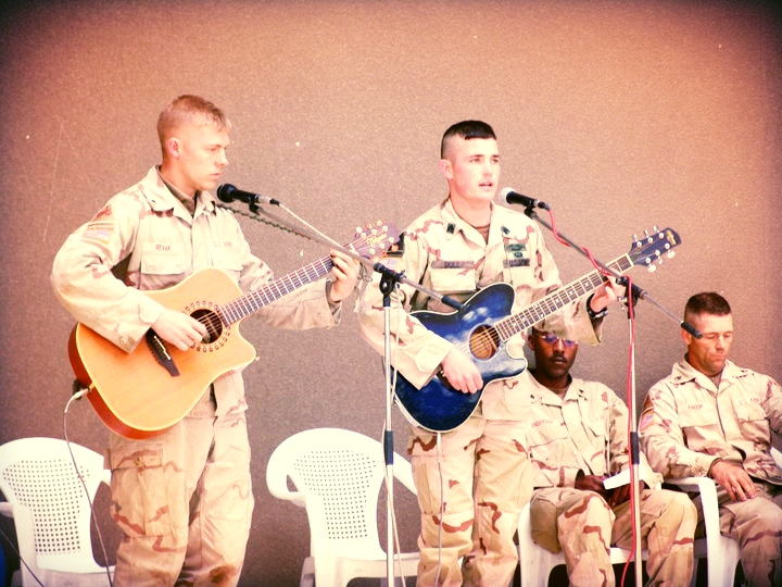 "Josh Revak and Trenton Dull perform ""Alaska"" at memorial for Sgt. Timothy Hayslett"