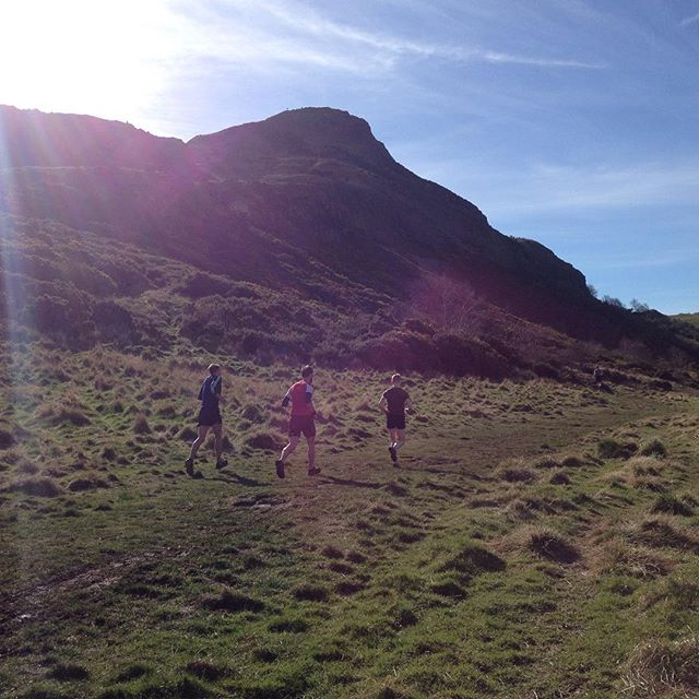 Early morning running with some of the Active Edinburgh members. Bring on the summer! #running #weekendfun #trailrunning #arthursseat #hot