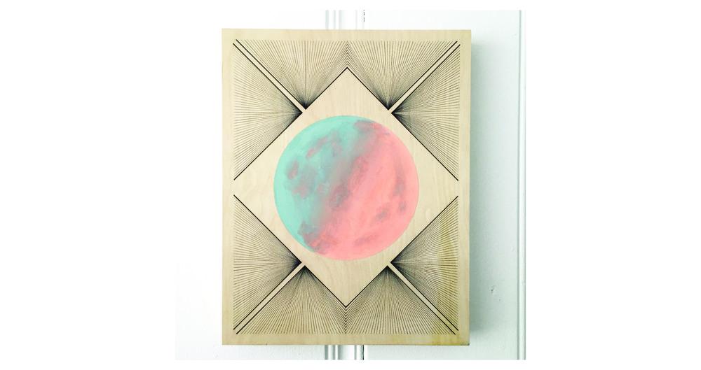 Ink & Acrylic on Wood Panel