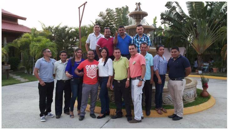 Equipo de Coordinación SAT Atlántida en el encuentro de asesores y coordinadores a nivel nacional.