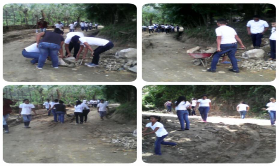 Colaboración en mantenimiento de la calle, CEBSAT Pablo Portillo Figueroa.