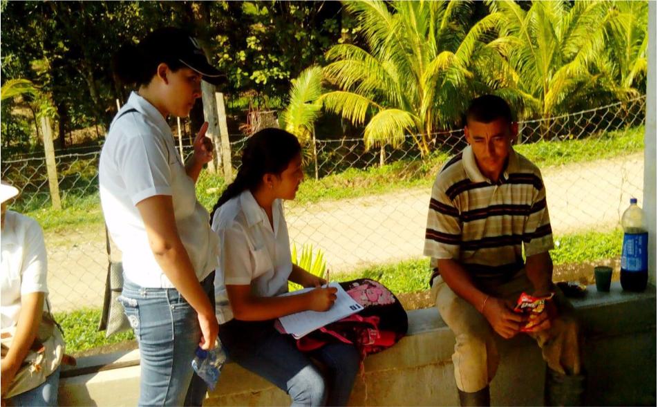 Aplicación de Censo Comunidad Agua Chiquita.