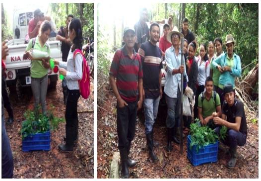 Servicios Comunitarios Campaña de Reforestación en la cuenca.