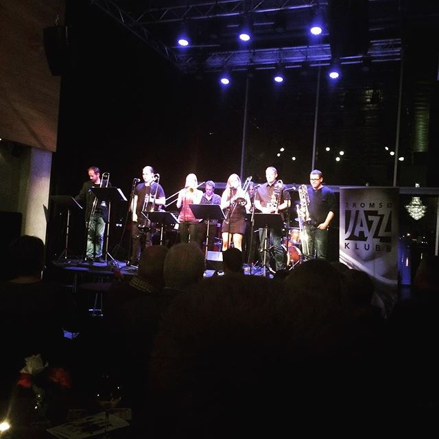 6 trombones on stage! One could never get too much trombone!