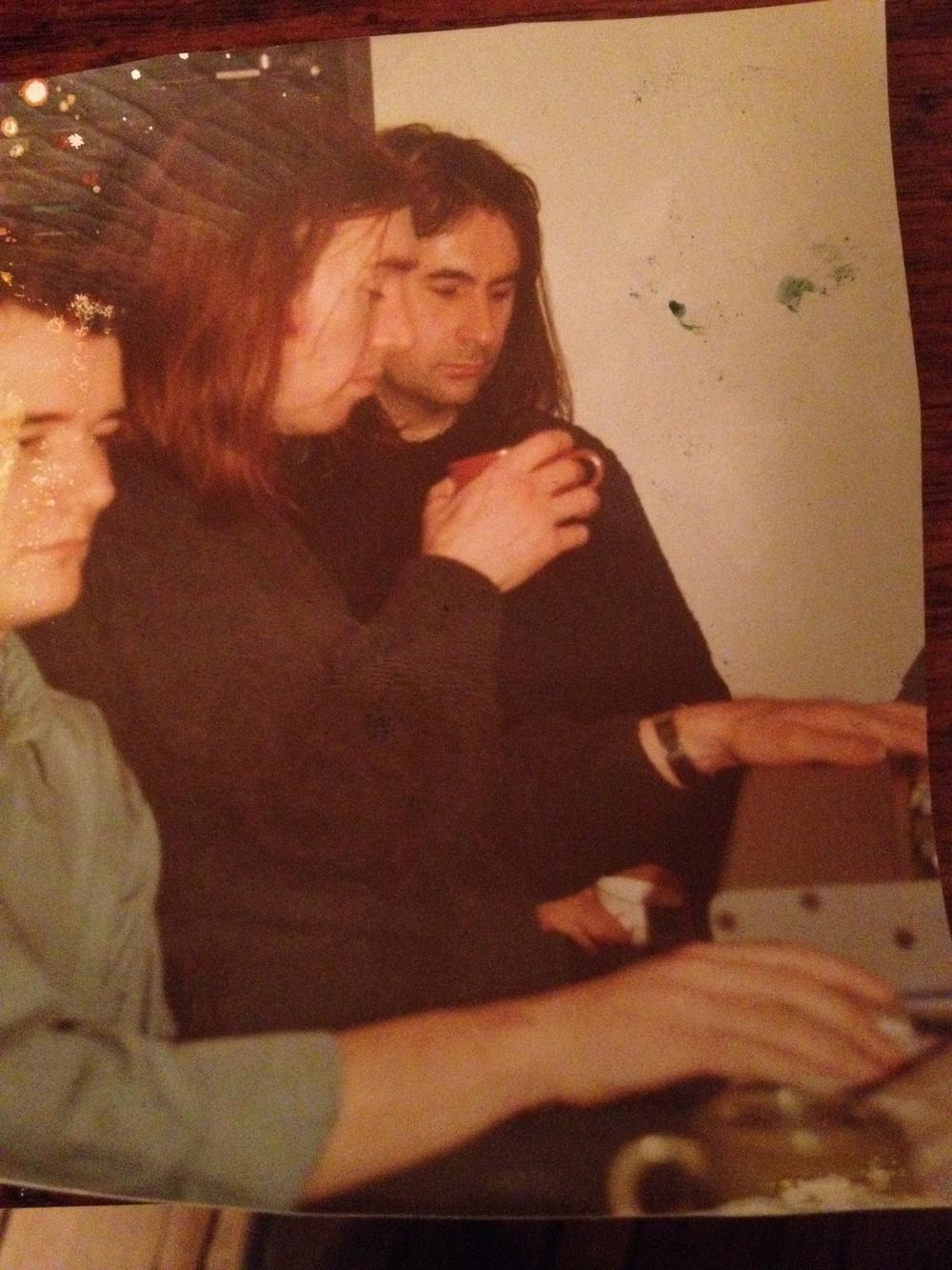 L-R Aidan Alcock, Colm O'Ciosoig, Stano Pulse Studio 1993 .jpg