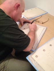 13.Brian Palm scribing the porcelain book
