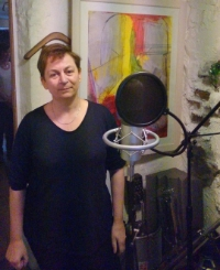 2.Anne Enright recording her story Portrane