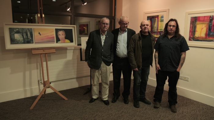 Robert, Brian, Donald and Stano at the John Duffy Memorial Exhibition.
