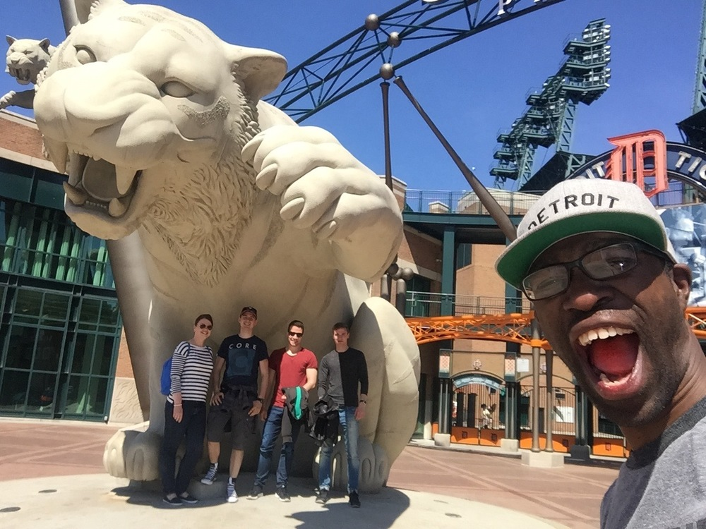 Hanging out with the Detroit Tigers!