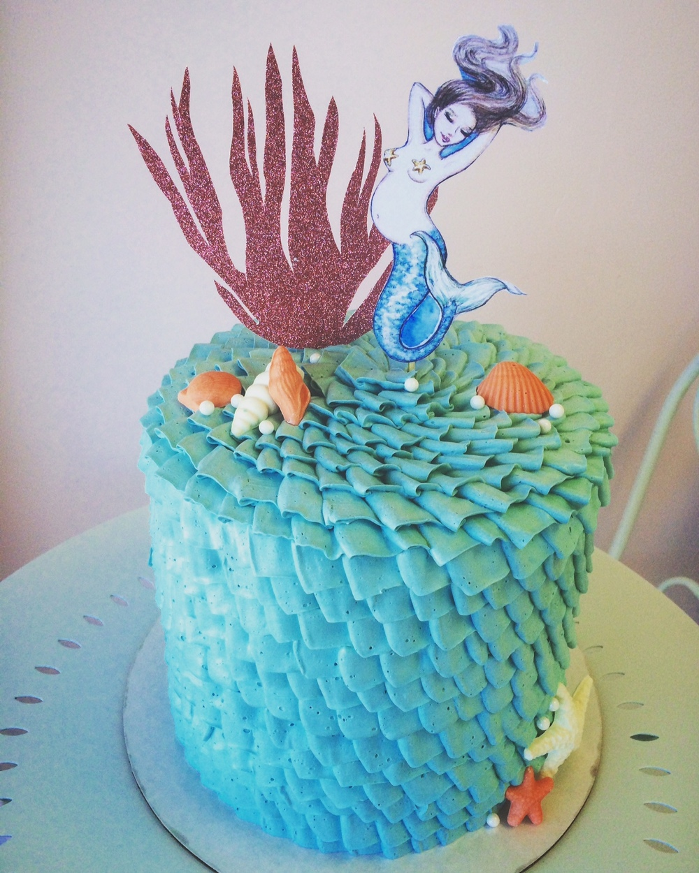 Mermaid ruffle cake.JPG