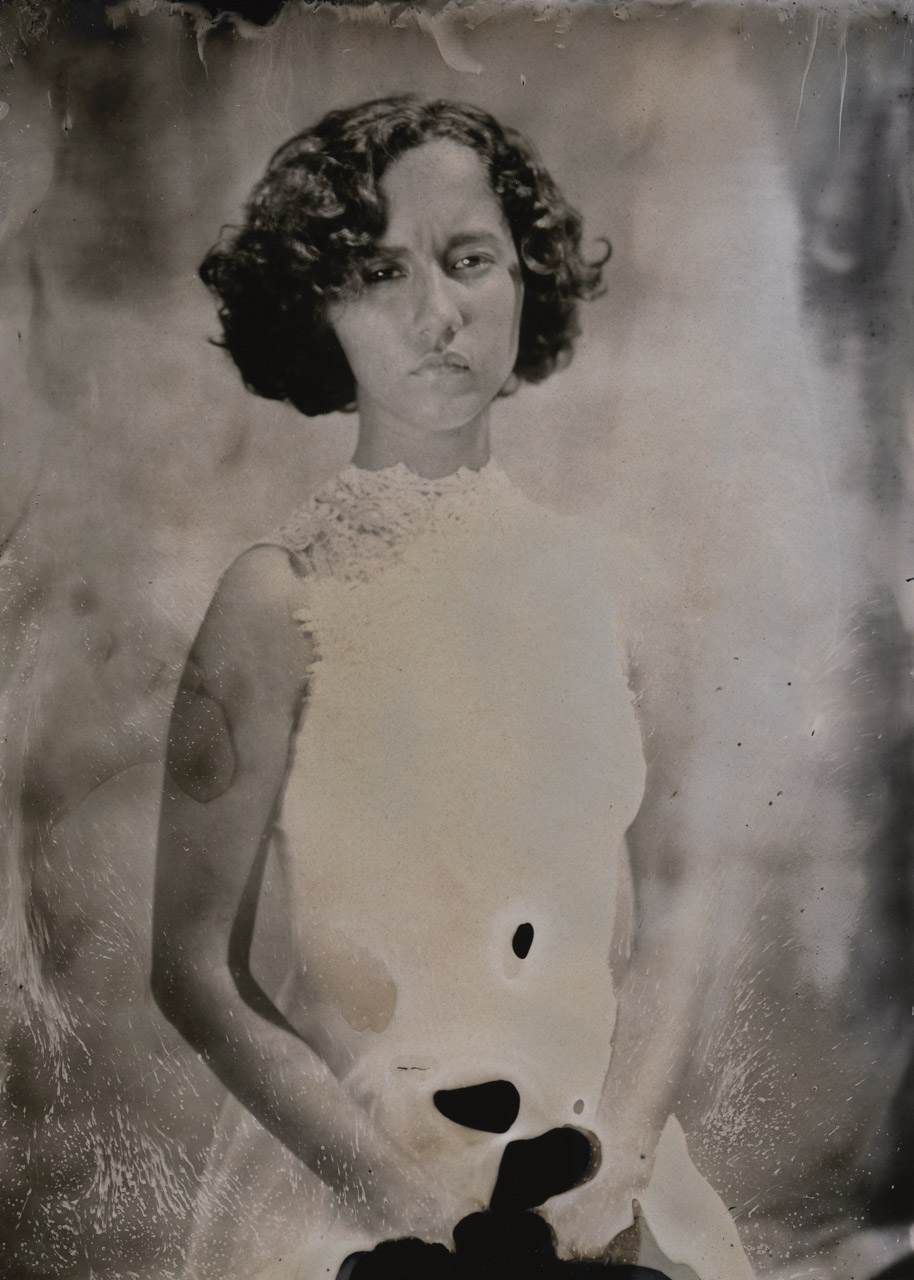 Timeless. Student portrait I did during a wet plate demo for the photo history class at Ringling College of Art and Design.