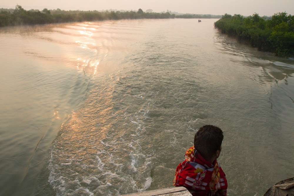 Somewhere on the Kaladan River. Myanamar, 2013.