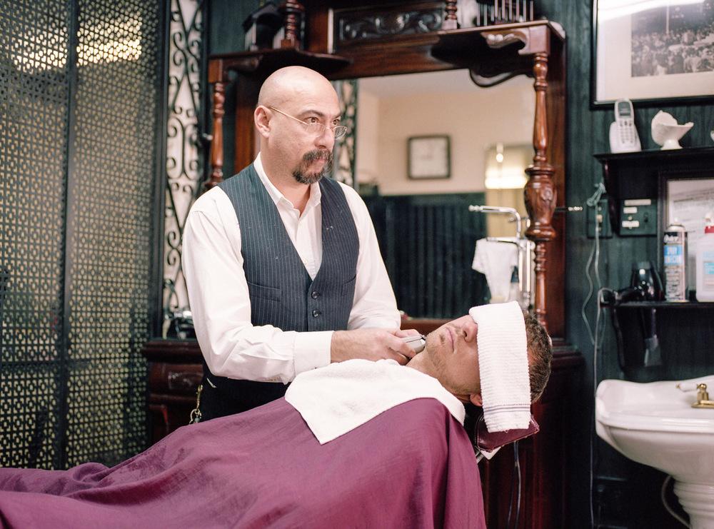 Frank Leyva, master barber. Tampa, FL 2011.