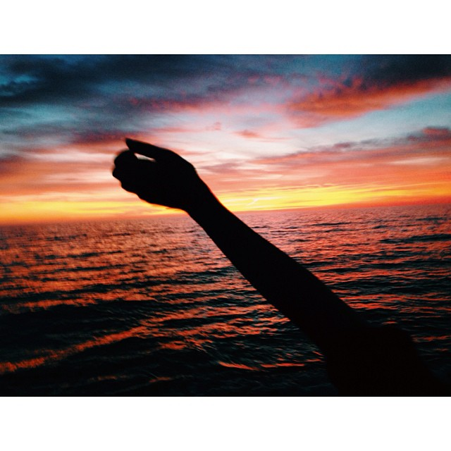 Waving goodbye to the sun. #florida #sunset #fireinthesky #picoftheday