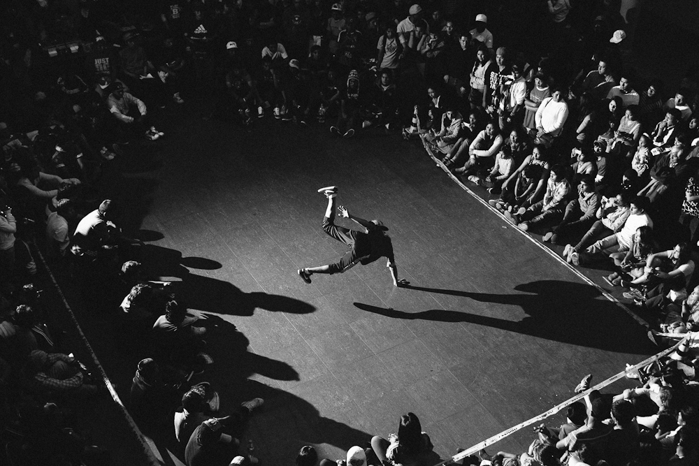 Breakdancer. Sucre, Bolivia. November, 2012.