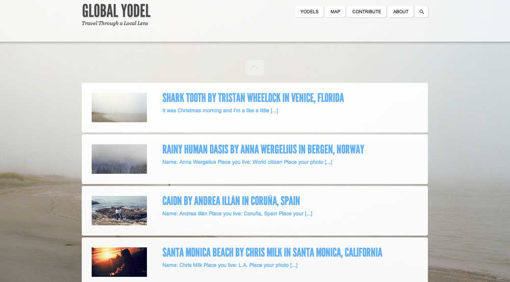 One of my favorite photos got featured on the awesome travel photography site  Global Yodel ! Check it out!