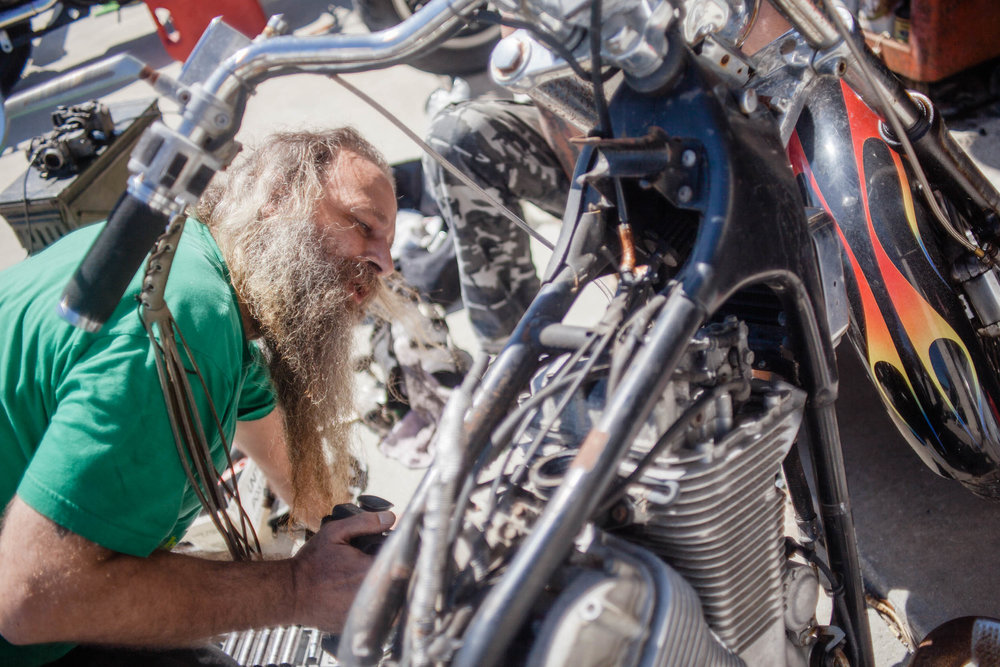 Radar array installer turned motorcycle mechanic, Todd Kiergen