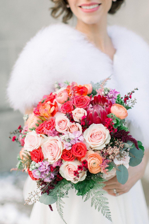 Colorful Winter Wedding