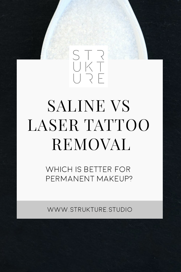 SALINE VS LASER TATTOO REMOVAL — Strukture